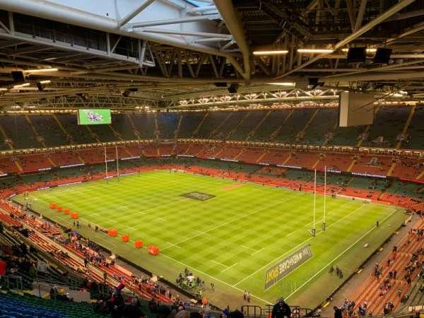 Principality Stadium, section: U4, row: 28, seat: 34
