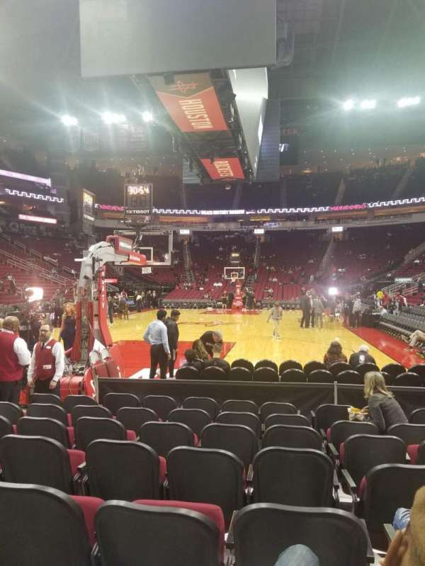 Toyota Center, section: 113, row: H, seat: 10