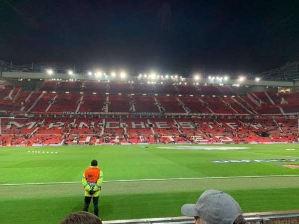 Old Trafford, section: STH123, row: GG, seat: 169