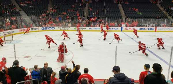 Little Caesars Arena, section: 124, row: 8, seat: 14