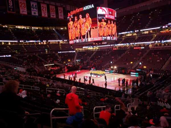State Farm Arena, section: 106, row: std, seat: rm