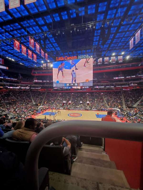 Little Caesars Arena, section: 109, row: 22, seat: 1