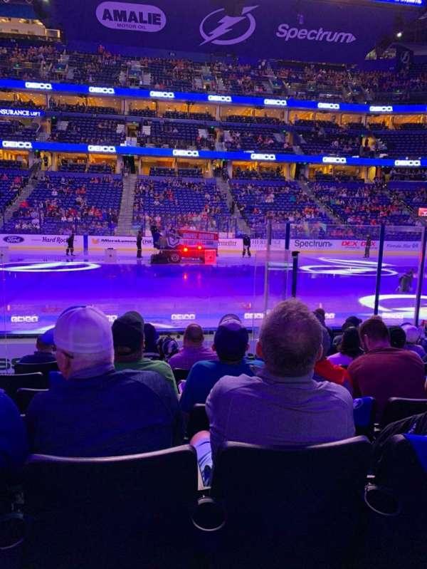 Amalie Arena, section: 101, row: J, seat: 15