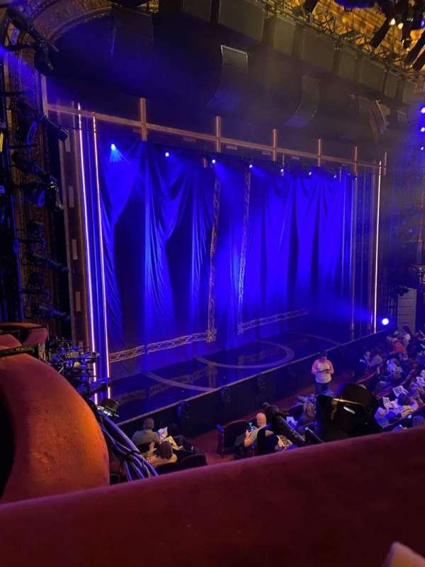 Brooks Atkinson Theatre, section: Front Mezzanine L, row: A, seat: 21