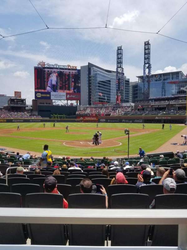 Truist Park, section: 126, row: 1, seat: R