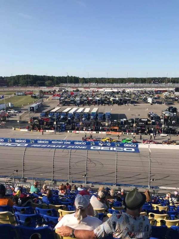 Darlington Raceway, section: Tyler Tower V, row: 18, seat: 17