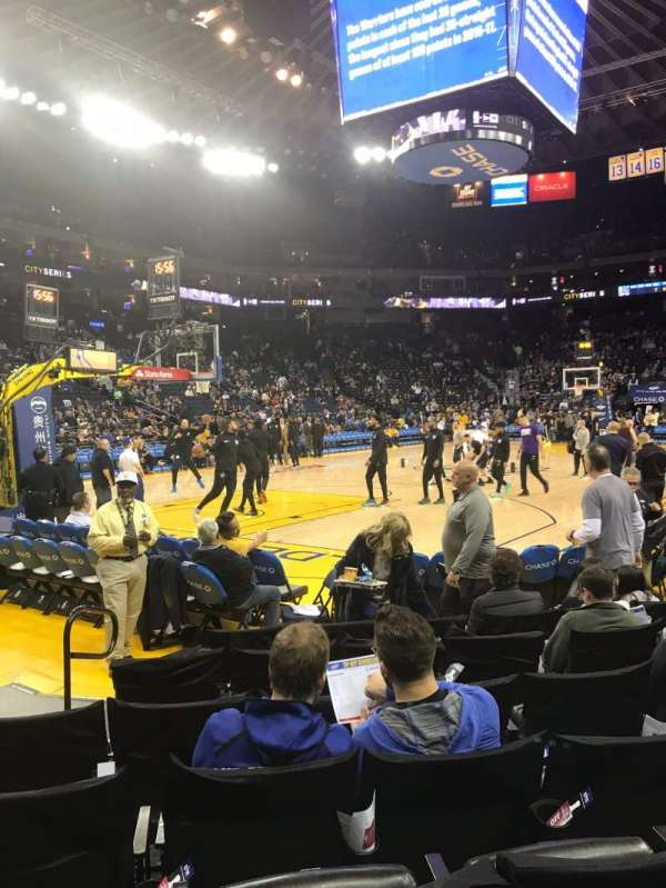 Oakland Arena, section: 105, row: 2, seat: 18