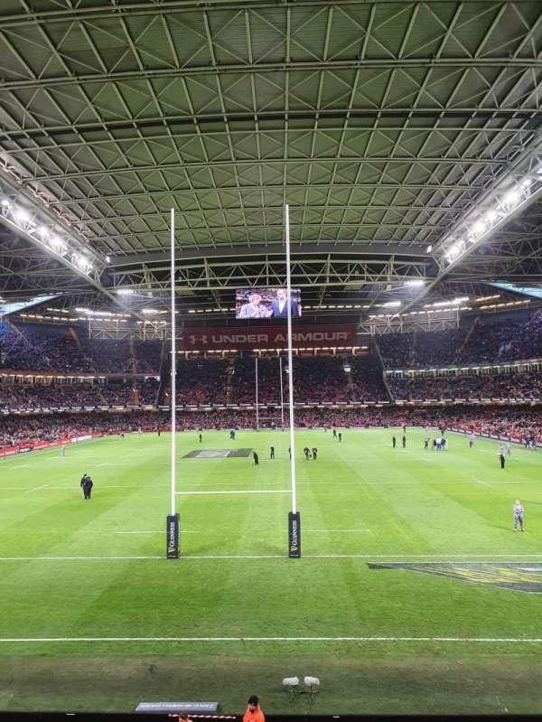 Principality Stadium, section: M19, row: 1, seat: 3