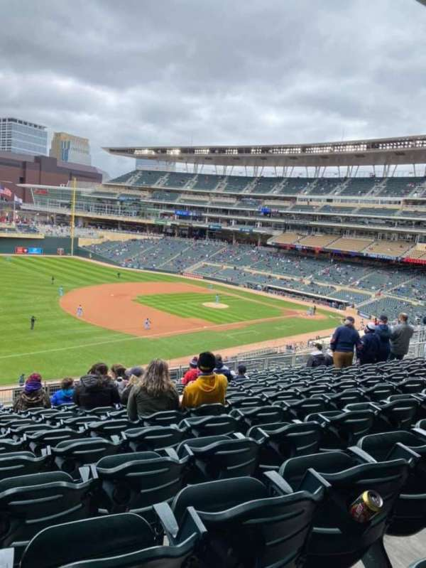 Target Field, section: S, row: 13, seat: 17