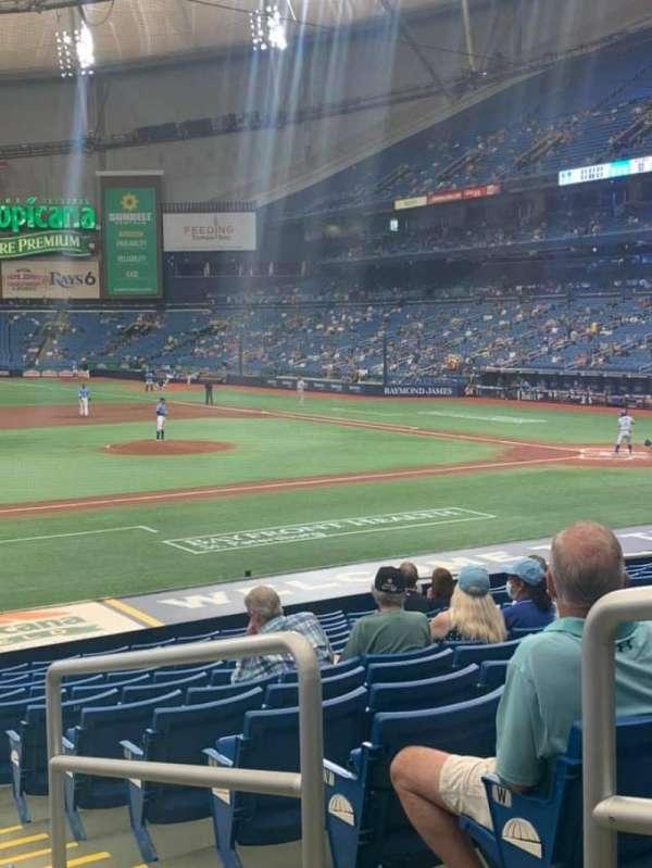 Tropicana Field, section: 119, row: z, seat: 9