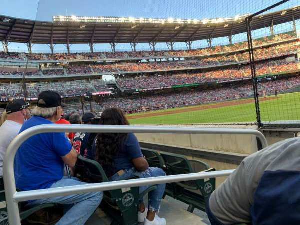 Truist Park, section: 13, row: 3, seat: 15