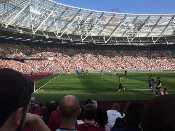 London Stadium, section: 107, row: 7, seat: 112