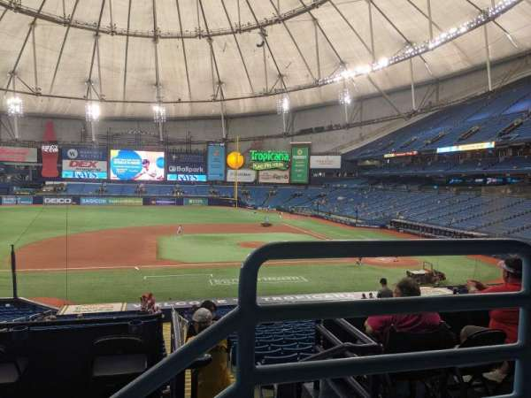 Tropicana Field, section: 117, row: PP, seat: 9