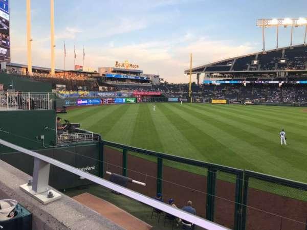 Kauffman Stadium, section: 105, row: A, seat: 5