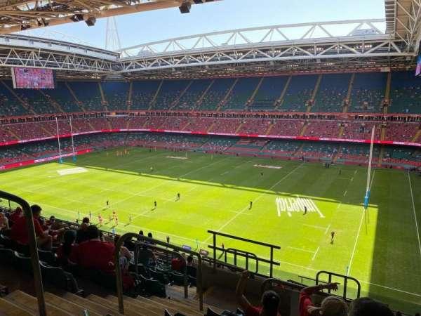 Principality Stadium, section: U5, row: 17, seat: 4