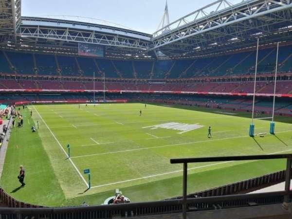 Principality Stadium, section: M2, row: 3, seat: 13