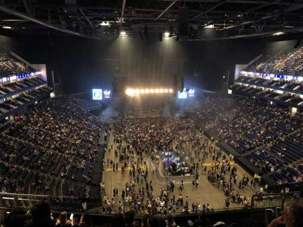 The O2 Arena, section: 411, row: J, seat: 495