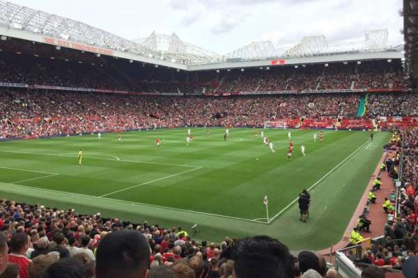 Old Trafford, section: W209, row: 7, seat: 87