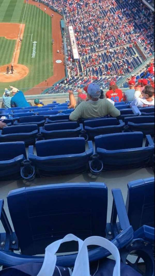Citizens Bank Park, section: 423, row: 9, seat: 15