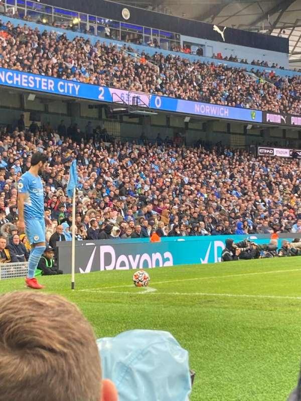 Etihad Stadium (Manchester), section: 131, row: 3, seat: 821