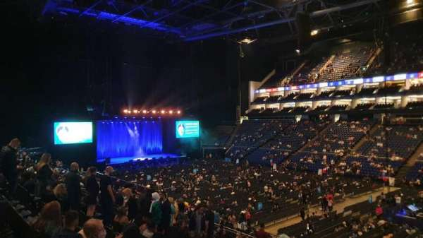 The O2 Arena, section: 104, row: Z, seat: 125