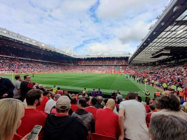 Old Trafford, section: W106, row: PP, seat: 46