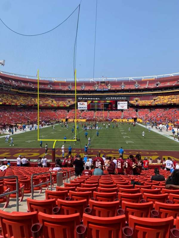 FedEx Field, section: 131, row: 24, seat: 20