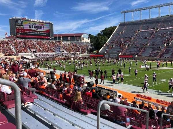 Lane Stadium, section: 7, row: Q, seat: 2