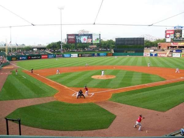 Louisville Slugger Field, section: 214, row: A, seat: 5