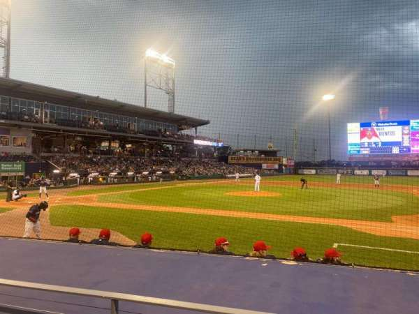 Dunkin' Donuts Park, section: 107, row: G, seat: 2