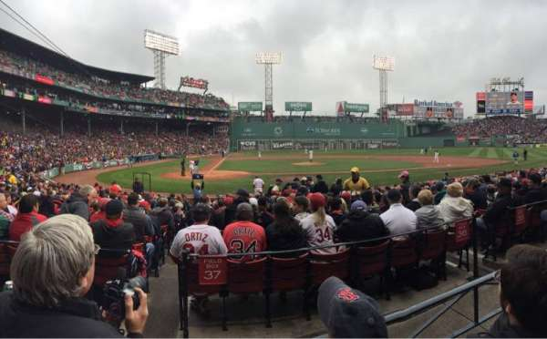 Fenway Park, section: Loge Box 122, row: BB, seat: 4