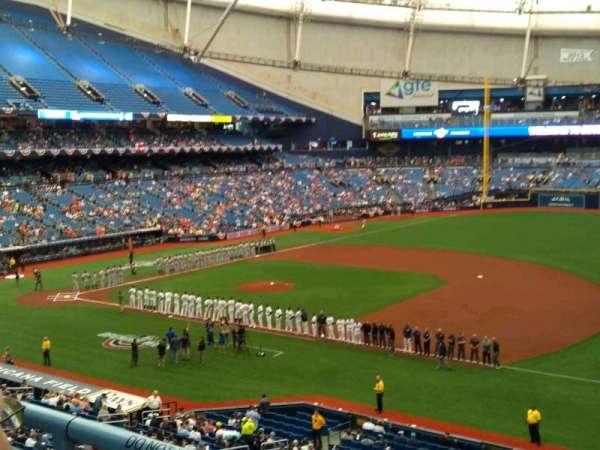 Tropicana Field, section: 216, row: B, seat: 19