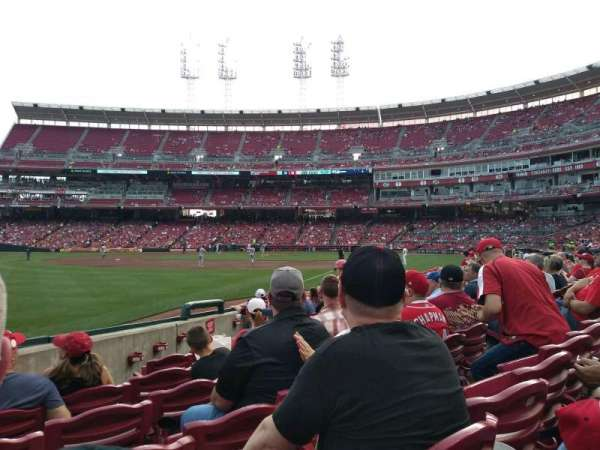 Great American Ball Park, section: 110, row: K, seat: 9