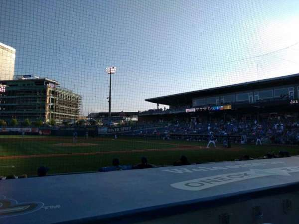 ONEOK Field, section: 114, row: F, seat: 1
