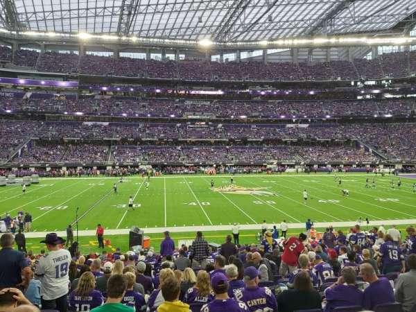 U.S. Bank Stadium, section: V4, row: 19, seat: 13