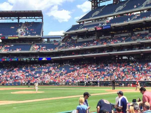 Citizens Bank Park, section: 133, row: 12, seat: 5