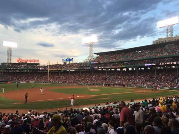 Fenway Park, section: Loge Box 157, row: KK, seat: 3