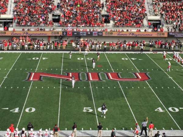 Huskie Stadium, section: D, row: 49, seat: 39