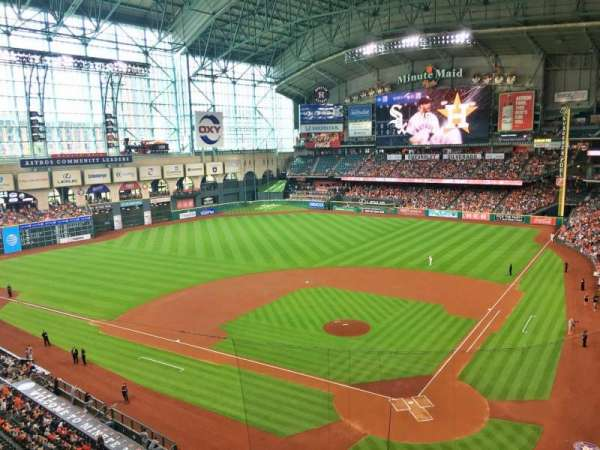 Minute Maid Park, section: 317, row: 1, seat: 7