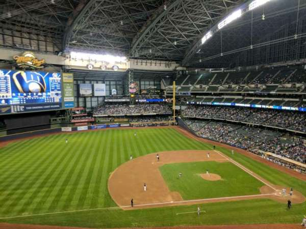 Miller Park, section: 430, row: 4, seat: 11