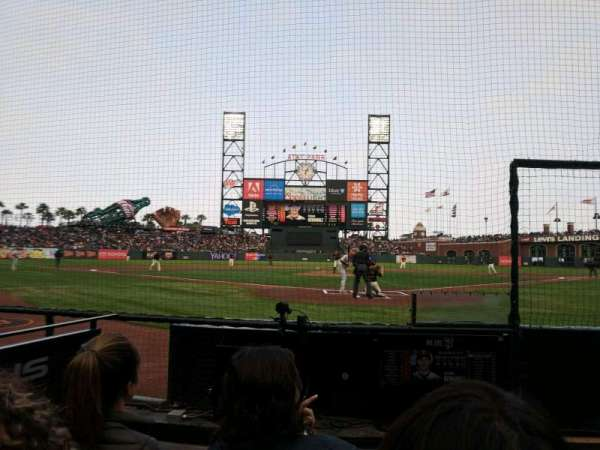 Oracle Park, section: DC115, row: CCC, seat: 13