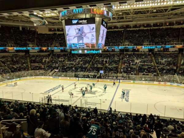 SAP Center, section: C10, row: 1, seat: 10