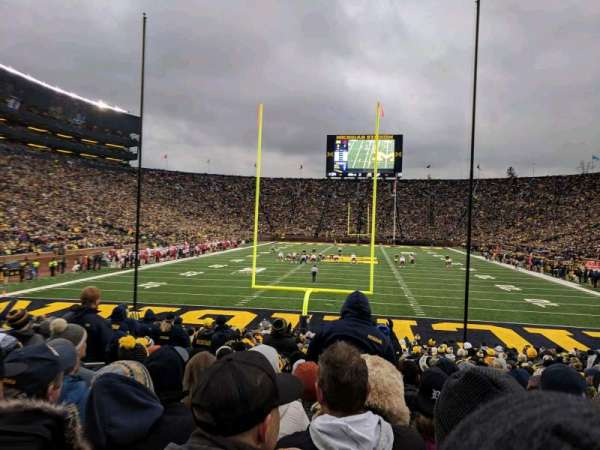 Michigan Stadium, section: 34, row: 23, seat: 18
