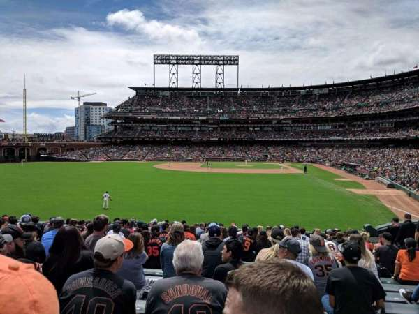 Oracle Park, section: 137, row: 21, seat: 10