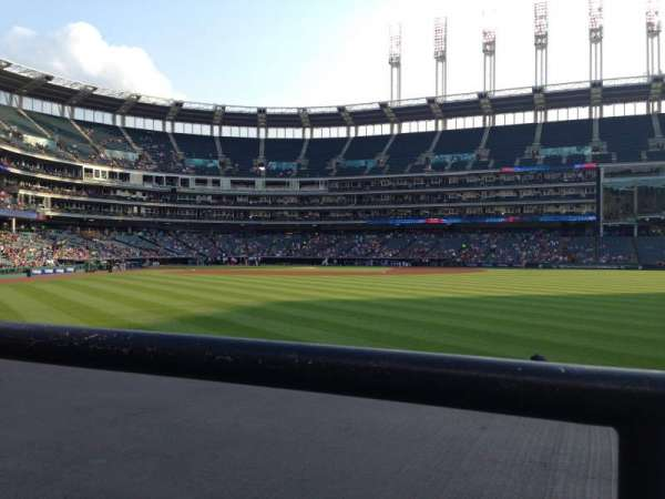 Progressive Field, section: 109, row: A, seat: 3