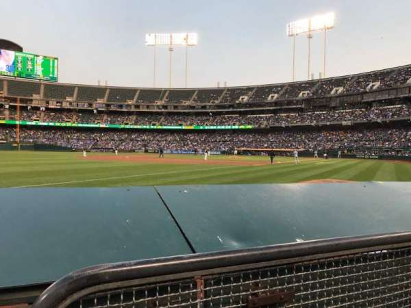 Oakland Alameda Coliseum, section: 128, row: 2, seat: 6