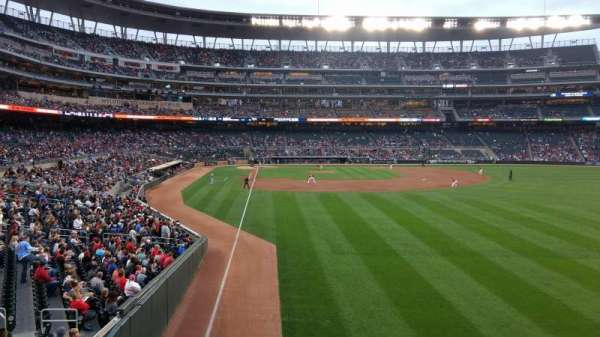 Target Field, section: 139, row: 1, seat: 13