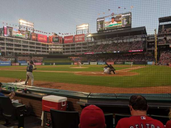 Globe Life Park in Arlington, section: 23, row: 1, seat: 5