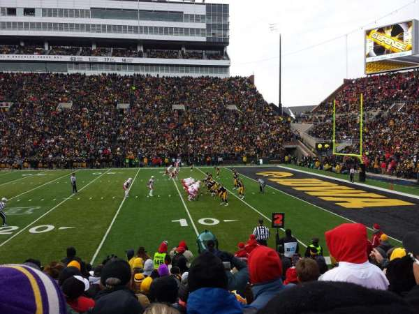Kinnick Stadium, section: 103, row: 14, seat: 14