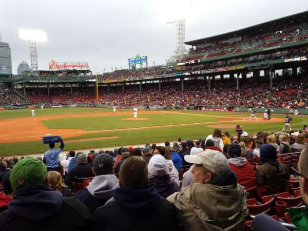 Fenway Park, section: Loge Box 150, row: EE, seat: 3